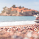 Pile of stacked stones on the beach - PhotoDune Item for Sale