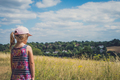Girl looking at Surrey countryside - PhotoDune Item for Sale