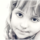 Portrait of a cute little girl in black and white - PhotoDune Item for Sale