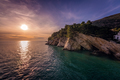 Beautiful sunset over the cliffs in Petrovac - PhotoDune Item for Sale