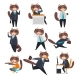 Businessman Cat in Different Situations - GraphicRiver Item for Sale