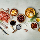 Free Download Wine and tapas, top view Nulled