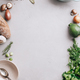 Free Download Cooking pot and various organic ingredients, top view Nulled