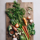 Cutting board with fresh organic vegetables - PhotoDune Item for Sale