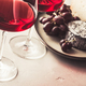 Red wine and cheese on concrete background - PhotoDune Item for Sale