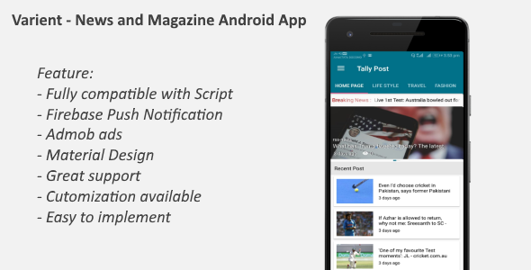 News & Magazine Android App - CodeCanyon Item for Sale