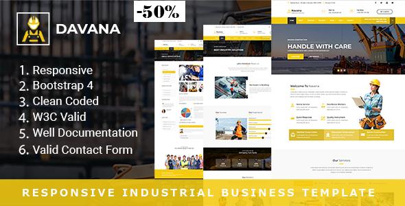 Davana - Responsive Industrial Business HTML Template - Business Corporate