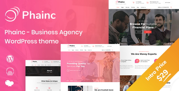 Phainc - Business Agency WordPress Theme - Business Corporate