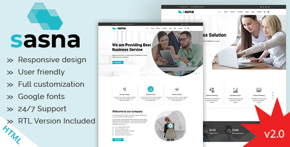 Sasna - Multipurpose Business HTML Template
