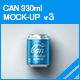 Can Mock-up v3 - GraphicRiver Item for Sale