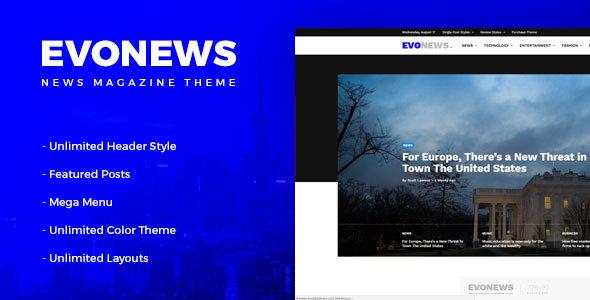 Evonews - News/Magazine WordPress Theme - News / Editorial Blog / Magazine