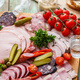 Appetizers set of meat and bread, close view - PhotoDune Item for Sale