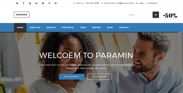 Paramin - Responsive Business & Corporate Multipurpose Html5 Template