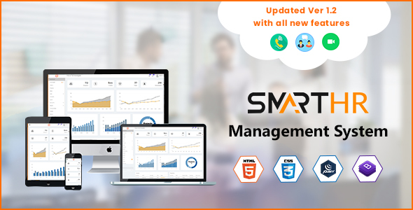 SmartHR - HR, Payroll & Project Mngt Admin Template