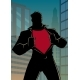 Superhero Under Cover Casual in City Silhouette - GraphicRiver Item for Sale