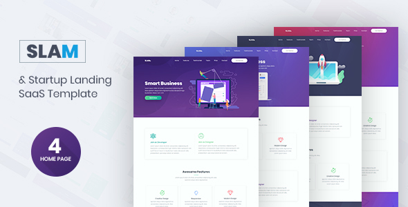 Slam - Startup and SaaS Template