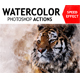 Free Download Watercolor Photoshop Action Nulled