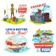 Fisherman, Fishing Boat and Fish Catch Icons - GraphicRiver Item for Sale