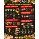 Japanese Cuisine Sushi, Rolls Infographics - GraphicRiver Item for Sale