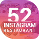 Restaurant Instagram Templates - GraphicRiver Item for Sale