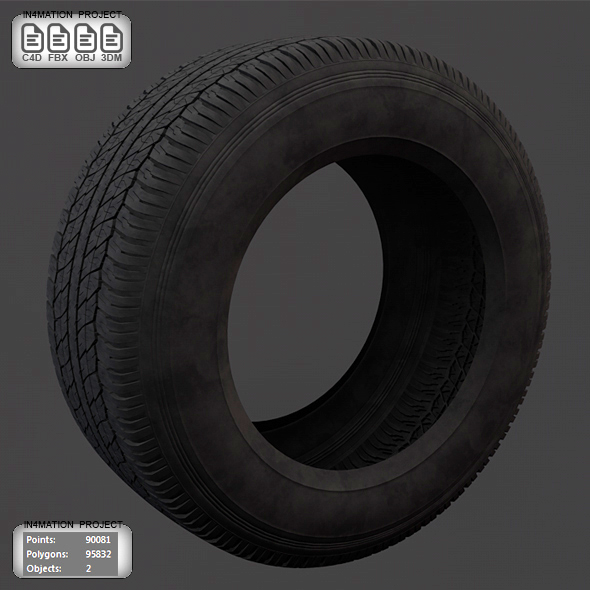 Tire 3D Model - 3DOcean Item for Sale