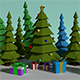 Low Poly Christmas tree 3D - 3DOcean Item for Sale