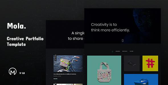 Mola - Creative Minimal Portfolio Template - Portfolio Creative