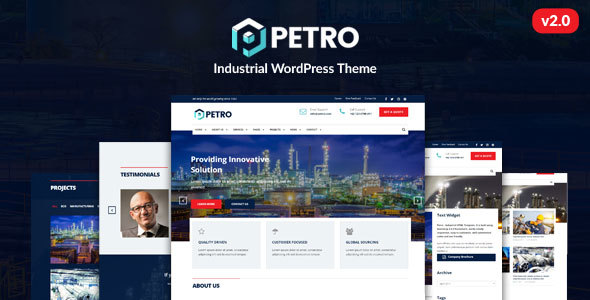 Petro - Industrial WordPress Theme - Business Corporate