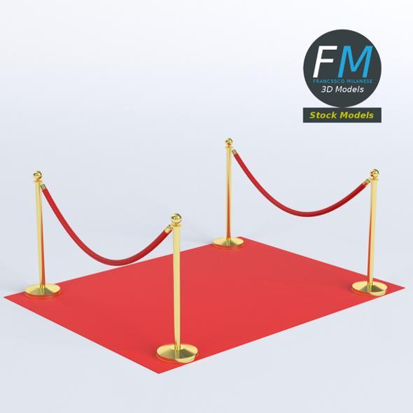 Red carpet module - 3DOcean Item for Sale