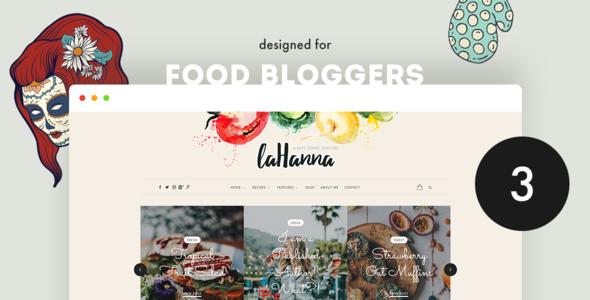 Lahanna - WordPress Food Blog Theme for Food Bloggers - Personal Blog / Magazine