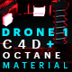 Free Download Drone 1 C4D - Octane Render Mix Material Nulled