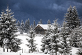 Wooden houses under snow - PhotoDune Item for Sale
