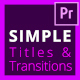 Free Download Simple Titles & Simple Transitions Pack Nulled