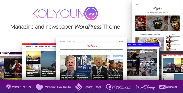 Kolyoum News - Newspaper Magazine News AMP Multipurpose + RTL