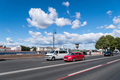 street view of saint petersburg, city road and neva river against a sunny sky, Russia. - PhotoDune Item for Sale