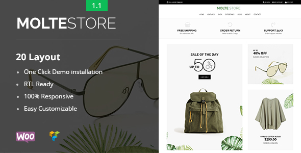 Molte - Store Fashion and Food WooCommerce Theme - WooCommerce eCommerce