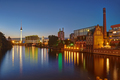 The River Spree in Berlin at night - PhotoDune Item for Sale