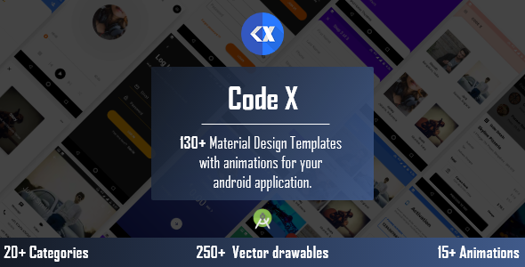 CodeX - Android Material UI Templates - CodeCanyon Item for Sale