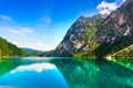 Braies or Prags lake and Dolomites mountains. Trentino Alto Adig - PhotoDune Item for Sale