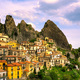 Castelmezzano village in Apennines Dolomiti Lucane. Basilicata, - PhotoDune Item for Sale