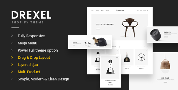Fastest Drexel - Minimal Responsive Shopify Theme - Shopify eCommerce