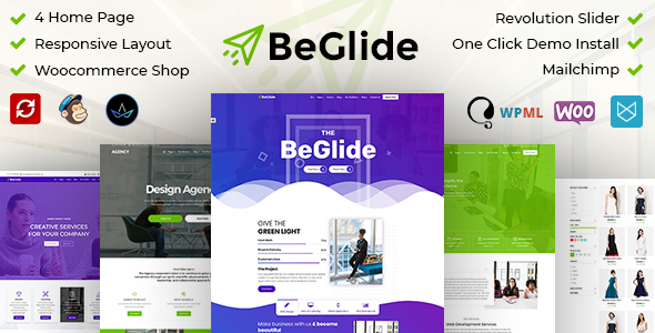 BeGlide: Corporate Business Consultant Agency WordPress Theme - Business Corporate