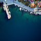 Free Download Marina with yachts top aerial view Nulled