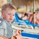 Free Download Toddler boy on beach Nulled