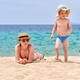 Free Download Toddler boy on beach with mother Nulled