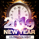 2019 New Year Party Flyer - GraphicRiver Item for Sale