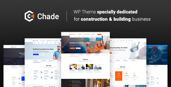 Construction Chade - Construction WordPress for Construction - Business Corporate
