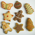 Isolated gingerbread cookies with holiday theme - PhotoDune Item for Sale