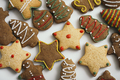 Gingerbread cookies on white background - PhotoDune Item for Sale