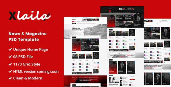 Xlaila - Magazine & Newspaper PSD Template - Miscellaneous PSD Templates